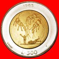 · APOCALYPSE BI-METALLIC: SAN MARINO ★ 500 LIRE 1983 UNC! LOW START ★ NO RESERVE! - San Marino