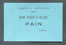 """WW1 Jeton Carton De Nécessité """"Bon Pour 3 Kilos De Pain - Commune De Chaudefonds (sur Layon)"""" Loire-Atlantique WWI - Monétaires / De Nécessité"""