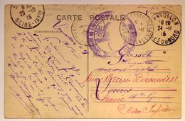 """Cachet Réexpédition """"hôpital Temporaire Loures-Barousse Htes Pyrenees""""1915 C'est Le Bénévole N°149bis Cp Lanvollon - WW I"""