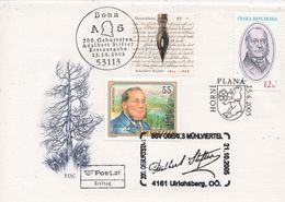 Czech Republic 2005 Plana, Adalbert Stifter. Special Cover With Czech, German And Austrian Stamps  - Interesting - Lettres & Documents