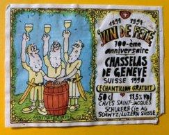 15038 - 700e Vin De Fête Chasselas De Genève ..... échantillon Gratuit Illustration HansPeter Wyss - 700 Years Of Swiss Confederation