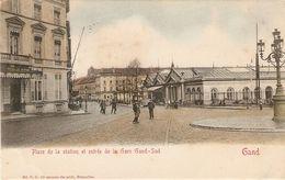 Gand : Place De La Station Et Entrée De La Gare Gand-Sud - Gent