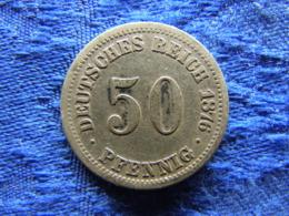 GERMANY 50 PFENNIG 1876A, KM6 - 50 Pfennig