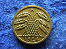 GERMANY 50 PFENNIG 1924A, KM34 - [ 3] 1918-1933 : Republique De Weimar