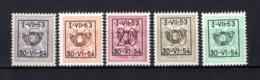 PRE635/639 MNH** 1953 - Cijfer Op Heraldieke Leeuw Type D - REEKS 45 - Typo Precancels 1951-80 (Figure On Lion)