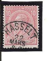 N° 46 . OBL.HASSELT LOT J101 - 1884-1891 Léopold II