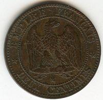 France 2 Centimes 1855 MA Ancre GAD 103 KM 776.6 - Francia