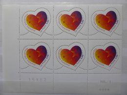 France.bloc De 6 Numéroté Du N° 3218 Saint Valentin N**. - Blocs & Feuillets