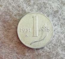 Repubblica Italiana 1 Lira 1951 - 1946-… : Republic