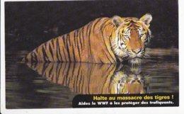 TIGRE DU BENGALE, République Indienne, Bengladesh, Halte Au Massacre Des Tigres  WWF Carte Souple 1990 Environ - Tigres
