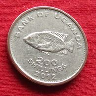 Uganda 200 Shillings 2012 KM# 68a *V1 Ouganda Oeganda - Ouganda