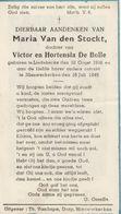 Liedekerke, Maria Van Den Stockt, De Bolle,1945, - Images Religieuses