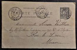 Carte Postale Entier Postaux N° 89-CP5 Avec Cachet Du 05 Septembre 1900 ( Peinture Faite à La Main ) - Entiers Postaux
