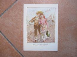 NAPOLI Cartoline Musicali BIDERI 'O Marenariello Ottaviano Gambardella Formato Grande A Colori - Music And Musicians