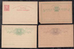 Portugal NYASSA 1885-95 4 Stationery Postcard ** MNH - Nyassa