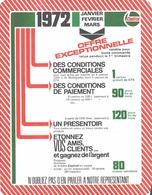 PUBLICITE LUBRIFIANTS HUILES CASTROL 1972 - BIERE CASTROL EN TRIPAK DESTINEE AUX  DISTRIBUTEURS - Automobile