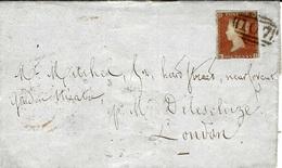 1853-  Envelopp De BRANDFORD-YORKS  Affr. 1 Penny Oblit. Numeral 107 - 1840-1901 (Regina Victoria)