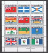 Canada 1979 Kleinbogen Mi 731-742 MNH FLAGS - Neufs
