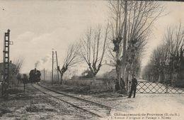 CPA-13-CHATEAURENARD DE PROVENCE-L'avenue D'Avignon Et Passage à Niveau - Chateaurenard