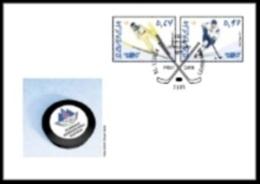 New Neu Slovenia Slovenie Slowenien 2014 Olympic Games Sochi Olympische Spiele; Hockey; Ski Jumping FDC - Winter 2014: Sochi