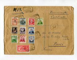 !!! GUERRE D'ESPAGNE, TIMBRES REPUBLICAINS SURCH FRANQUISTES SUR LETTRE RECO D'ORENSE DE 1936 - 1931-50 Lettres
