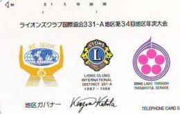 LIONS CLUB INTERNATIONAL Lions International (20) On Phonecard - Télécartes