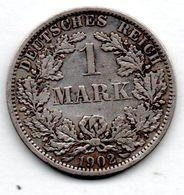 Allemagne  --1 Mark 1902 A - état  TB+ - [ 2] 1871-1918 : German Empire