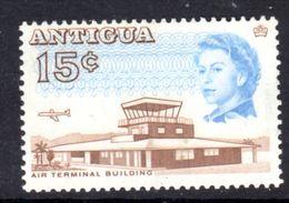 ANTIGUA - 1969 DEFINITIVE 15c STAMP PERF 13.5 GLAZED PAPER MOUNTED MINT MM * SG 188a - 1960-1981 Autonomie Interne