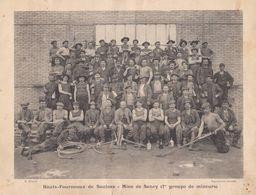 """1900  Hts. Fourneaux De Saulnes   Raty - Mine De Sancy / Trieux """" Mineurs - Recette Du Puits No 2 """" - Documents Historiques"""
