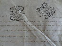 1776 Généralité De Paris Parchemin Timbré N°507 De AC. D N 20 SOLS / ACT. D. NOT DE PARIS 25 SOLS Partage Fermage - Seals Of Generality