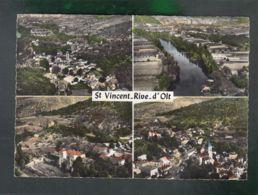 CP (46) En Avion Au Dessus De ...  Saint-Vincent-Rive-d'Olt - Multi-vues - France