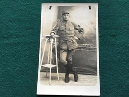 Carte Photo D'un Aviateur Avec Brevet Et Croissant Armée D'orient ? 1914-18 - 1914-18