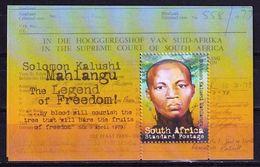 South Africa 2009 Solomon Kalushi Mahlangu SS MNH - South Africa (1961-...)