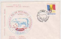 BEAR POLAR COVERS  RUMANIEN, ROUMANIE , POLAR PHILATELY SVALBARD(NORGE)  -ROMANIAN POLAR RESEARCH EXPEDITION - Filatelia Polar