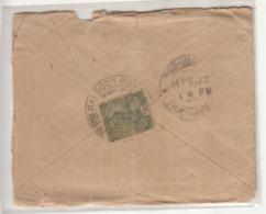 KGV Used Cover 1922, British India  Used Abroad /  Burma - India (...-1947)