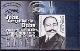 South Africa 2012 President Of The SANNC John Dube SS MNH - Unused Stamps