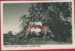 Native Girls Ethnic Water Buffalo Philippines Philippinen Filipinas De Philippijnen Missionary Mission Missie Van Scheut - Philippines