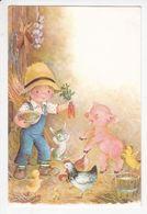 PETITE FERMI7RE Et Ses Animaux, Cochon, Lapin, Poules, Poussin, Carottes, Ed. CyZ (Spain) 1990 Environ - Humorous Cards