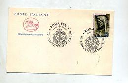 Lettre Cachet Rome Rotary - Affrancature Meccaniche Rosse (EMA)