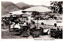 JAVA / INDONESIA - BOGOR : PEMANDIAN TJIBULAN - TERRASSE PISCINE - CARTE VRAI E PHOTO / REAL PHOTO ~ 1950 - '955 (ae932) - Indonesia
