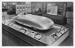 """EXPOSITION PARIS 1937- LE PAVILLON ALLEMAND VOITURE DE COURSE """" MERCEDES """" THE GERMAN HOUSE MERCEDES-RACING-CAR - Turismo"""