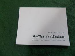 VINTAGE FRANCE: CHAVOIRES Pavillon De L'Ermitage Hotel Restaurant Fold Out Card - Altri Comuni