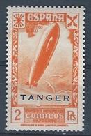 TABE23-LAC408TTRANSOTRAIRE.Maroc.Marocco.Historia Del Correo.TANGER ESPAÑOL Avion.BENEFICENCIA  1943.(Ed 23**) - Sonstige (Luft)