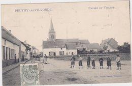 Vilvoorde - Deelgemeente Peutie - Ingang Van Het Dorp (gelopen Kaart Met Zegel Vooraan) - Vilvoorde