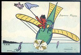 Cpa Illustrateur Vienne Munk Le Chat Volant  AVR20-98 - Gatti