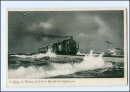 Y16592/ Hindenburgdamm Sylt Eisenbahn AK 1938 - Unclassified