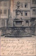 !  Alte Ansichtskarte Gruss Aus Frankfurt Am Main, Stoltze Denkmal, 1898 - Frankfurt A. Main