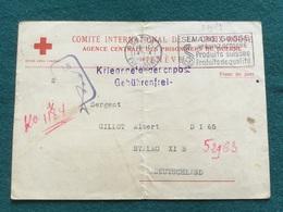 Carte De Correspondance Prisonnier De Guerre Français 1940 Croix Rouge 2 - 1939-45
