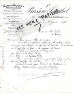 10 - Aube - BRIENNE-LE-CHATEAU - Facture BRISSON-DAUTHEL - Grains, Graines, Farines, Issues - 1899 - REF 150 - 1800 – 1899