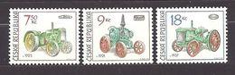 Czech Republic 2005 MNH ** Mi 446-448 Sc 3282-3284 Historical Tractors. Tschechische Republik. - Tchéquie